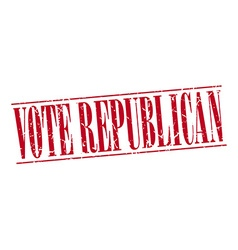 Vote republican red grunge vintage stamp isolated vector