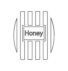 Wooden honey keg icon outline style vector