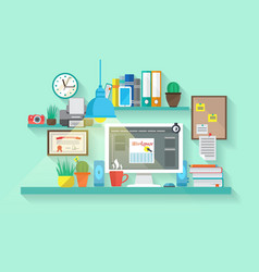 Workspace In Room vector image