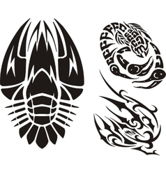 Zodiac Signs - cancer Vinyl-ready set vector image