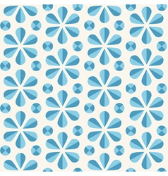 blue floral seamless pattern origami style vector image vector image