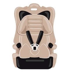 brown child car seat vector image