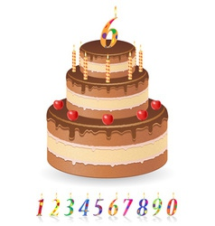 cake 03 vector image