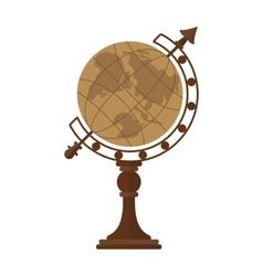 vintage desktop globe vector image