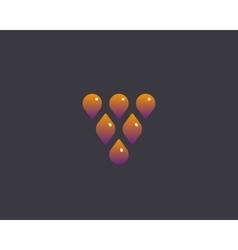 Abstract drop leaf logo symbol icon Wine vector image