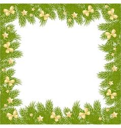 christmas pine frame 2209 01 vector image