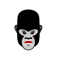 gorilla angry emoji monkey evil emotion isolated vector image