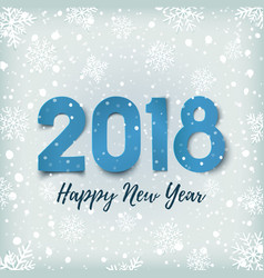 happy new year 2018 blue winter background vector image vector image