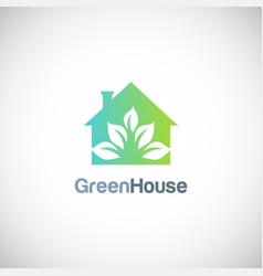 house green garden eco logo vector image vector image