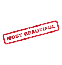 Most Beautiful Rubber Stamp vector image vector image