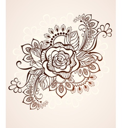 Rose Painted with Henna vector image vector image