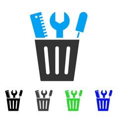 tools bucket flat icon vector image vector image