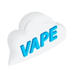 Vape word cloud icon isometric 3d style vector image