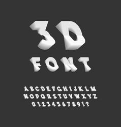 3d font plastic sans serif typeface letters vector image vector image