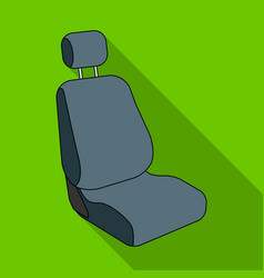 Car seatcar single icon in flat style vector