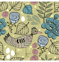 Colorful endless background with nature elements vector