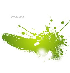 Green abstract vector image