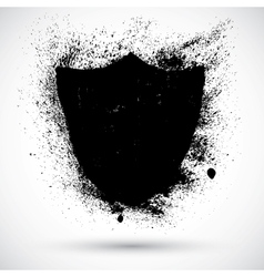 Grunge shield vector image