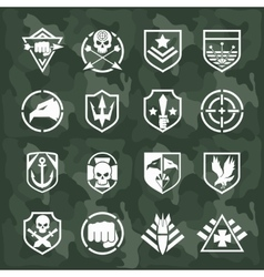 military symbol icons vector image