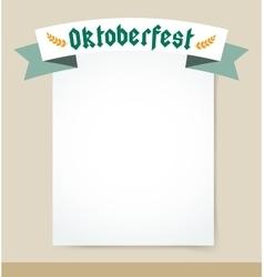 Oktoberfest celebration background poster vector image vector image