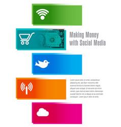 social media money vector image