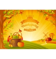 Thanksgiving day Beautiful vector image