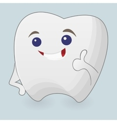 Winking tooth vector image vector image
