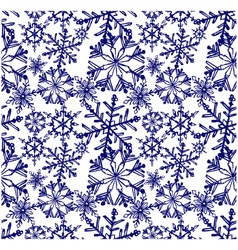 Background snowflake winter vector image vector image