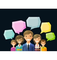 Brainstorming conversation talk chat vector