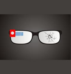 broken smart glasses vector image