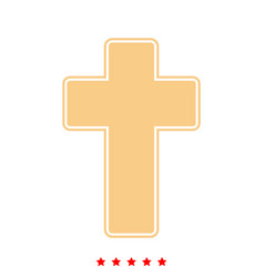 church cross it is icon vector image