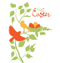 easter background with birds vector image