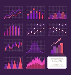 Set of charts vector