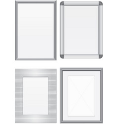 set of metal frames vector image vector image