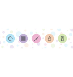 5 hobby icons vector