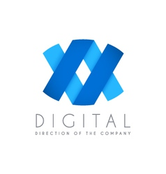 Abstract business logo icon design Digital concept vector