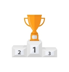 Award cup with a pedestal vector image