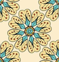 Beige Plant Patterned Background vector image