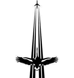 Bird and plane vector