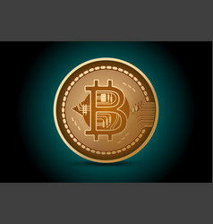 bitcoin shape scene business concepts vector image