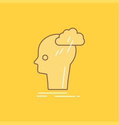 brainstorm creative head idea thinking flat line vector image