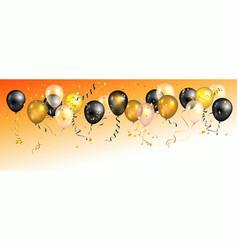 Bright holiday balloons banner vector
