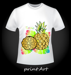 bright t-shirt with pineapple vector image