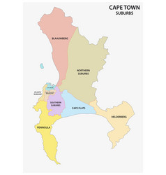 Cape town suburb map vector