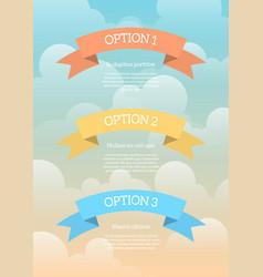 Cartoon banners infographic vector