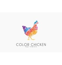 chicken logo color creative logo vector image