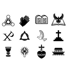christian icons vector image