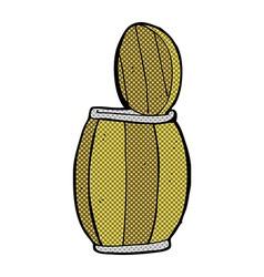 comic cartoon beer barrel vector image