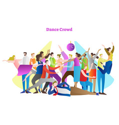 Dance crowd party people vector