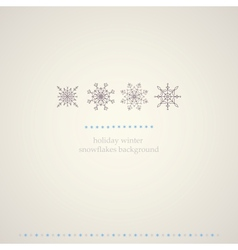 Decoration snowflakes winter background vector